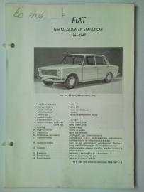 Fiat 124  Vraagbaak ATH 66-67 #3 Nederlands
