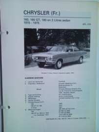 Chrysler 160 180  Vraagbaak ATH 70-75 #1 Nederlands
