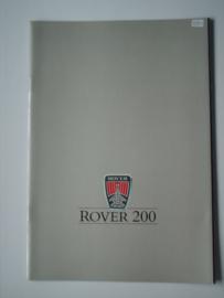 Rover 200  Brochure 87 #2 Nederlands