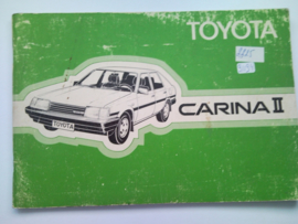Toyota Carina II  Instructieboekje 84 #2 Nederlands