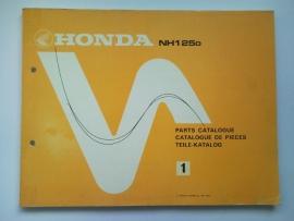 Honda NH125D  Onderdelenboek 83 #2 Engels Frans Duits