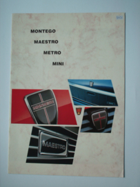 Austin Mini Metro Maestro Montego  Brochure 85 #2 Nederlands