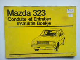 Mazda 323  Instructieboekje 79 #2 Nederlands Frans