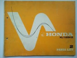 Honda XL125K2  Onderdelenboek 76 #1 Engels