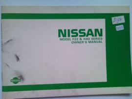 Nissan F22 & H40  Instructieboekje 84 #1 Engels