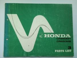 Honda CR250M  Onderdelenboek 76 #1 Engels