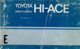 Toyota Hiace  Instructieboekje 73 #1 Engels