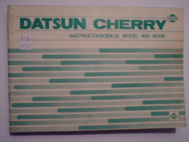 Datsun Cherry Model N10 Instructieboekje 79 #2 Nederlands