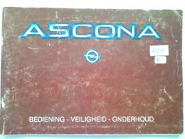 Opel Ascona C  Instructieboekje 83 #2 Nederlands