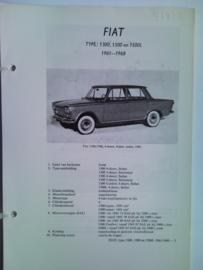 Fiat 1300 1500 1500 L  Vraagbaak ATH 61-68 #2 Nederlands