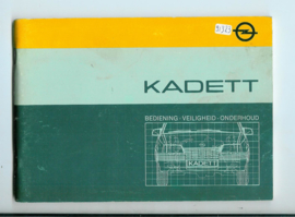 Opel Kadett E  Instructieboekje 85 #4 Nederlands