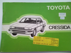 Toyota Cressida  Instructieboekje 85 #1 Nederlands