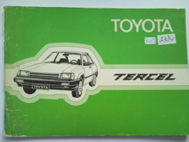 Toyota Tercel  Instructieboekje 82 #1 Nederlands