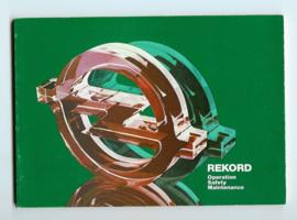 Opel Rekord E  Instructieboekje 80 #1 Engels
