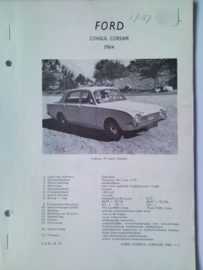 Ford Consul Corsair  Vraagbaak ATH 64 #2 Nederlands