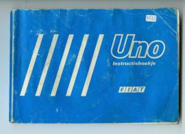 Fiat Uno  Instructieboekje 87 #1 Nederlands