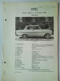 Opel Kadett L Caravan 1000  Vraagbaak ATH 62-64 #1 Nederlands