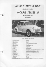 Morris Minor 1000 Series III  Vraagbaak ATH 56-62 #1 Nederlands