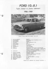 Ford Zephyr en Zodiac 2500 MK II  Vraagbaak ATH 56-59 #1 Nederlands