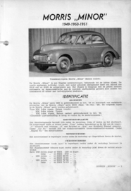 Morris Minor  Vraagbaak ATH 49-51 #1 Nederlands