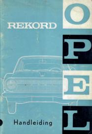 Opel Rekord A L Coupe Caravan Bestelwagen Instructieboekje 65 #1 Nederlands