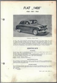 Fiat 1400  Vraagbaak ATH 50-52 #1 Nederlands