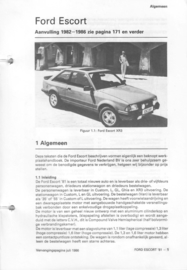Ford Escort  Vraagbaak ATH 80-86 #1 Nederlands