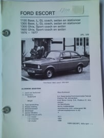 Ford Escort  Vraagbaak ATH 75-77 #1 Nederlands