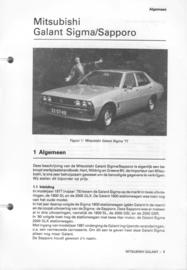 Mitsubishi Sigma Sapporo  Vraagbaak ATH 76-80 #1 Nederlands