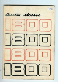 Austin Morris 1800 Instructieboekje 73 #2 Engels