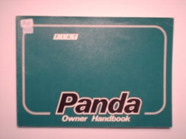 Fiat Panda  Instructieboekje 87 #1 Engels