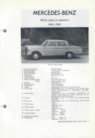 Mercedes-Benz 190Dc  Vraagbaak ATH 62-65 #2 Nederlands