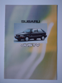 Subaru justy  Brochure 92 #1 Nederlands