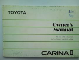 Toyota Carina II  Instructieboekje 88 #1 Engels