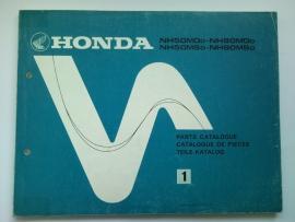 Honda NH50MD NH50MS NH80MD NH80MS  Onderdelenboek 82 #1 Engels Frans Duits