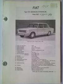 Fiat 124  Vraagbaak ATH 66-69 #1 Nederlands
