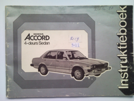 Honda Accord  Instructieboekje 79 #1 Nederlands