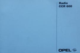 Opel Radio CCR 600  Instructieboekje   #1 Nederlands