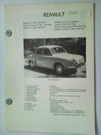 Renault Dauphine Ondine Gordini  Vraagbaak ATH 63-66 #1 Nederlands