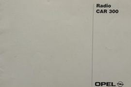 Opel Radio CAR 300  Instructieboekje 96 #1 Nederlands