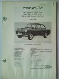 Volkswagen 1500 1500S 1600  Vraagbaak ATH 65-66 #2 Nederlands
