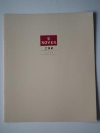 Rover 200  Brochure 90 #5 Nederlands