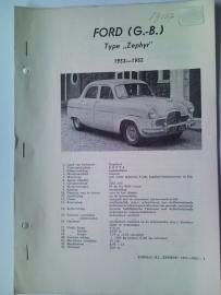 Ford Zephyr  Vraagbaak ATH 53-55 #1 Nederlands