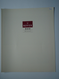 Rover 825  Brochure 92 #1 Nederlands