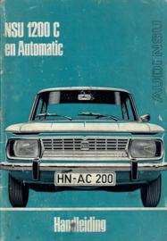 NSU 1200 C & Automatic  Instructieboekje 71 #1 Nederlands