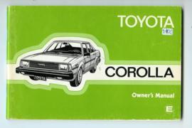 Toyota Corolla  Instructieboekje 81 #3 Engels