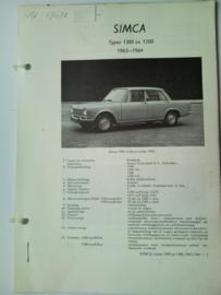 Simca 1300 1500  Vraagbaak ATH 63-64 #2 Nederlands