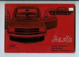 Audi Union  Instructieboekje 65 #2 Nederlands Duits Frans Italiaans