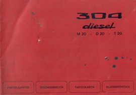Peugeot 304  Instructieboekje 77 #2 Nederlands Duits Frans Italiaans