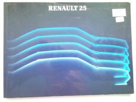 Renault 25  Instructieboekje 85 #1 Nederlands